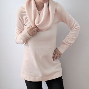 NWT French Connection Light Pink Cowl Sweater